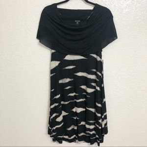 New with Tag Kensie Cowl Neck Animal Print Dress